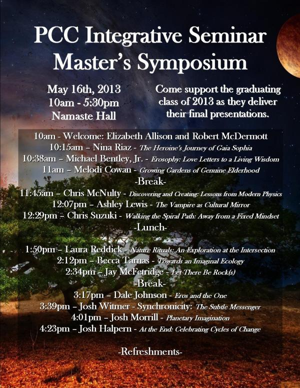 Integrative Seminar Symposium Flyer