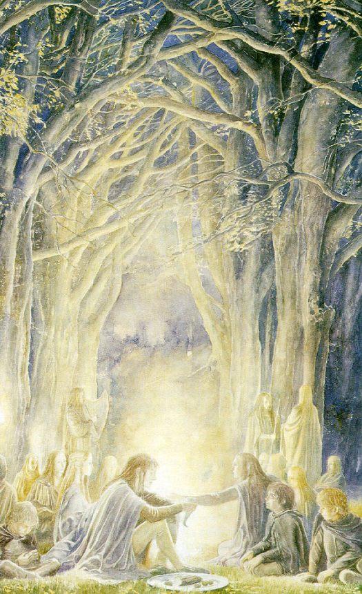 Elves at Woody End - Alan Lee