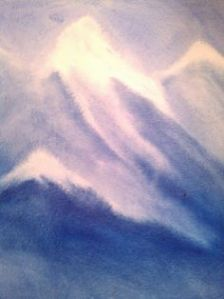Waldorf Painting of Mountain