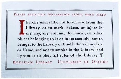 Bodleian Library Oath